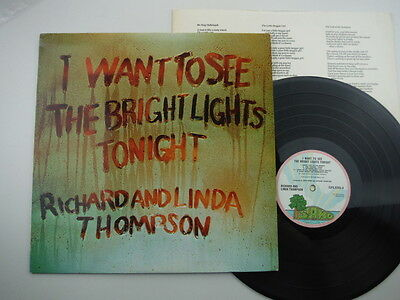 Richard & Linda Thompson,I Want To See The Bright Lights Tonight,First press,LP