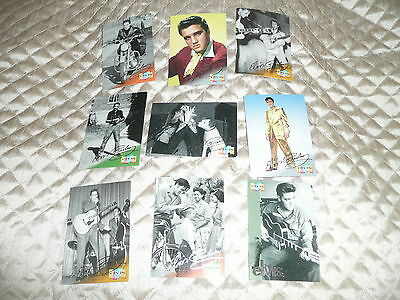 ( LOT 18)  9 different trading cards from 1999 ELVIS PRESLEY