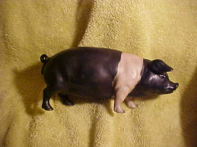 Country Farm House Cottage Decor - Large Resin Pig Sow Standing Statue 6 inch