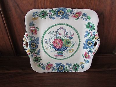Masons~Strathmore~1X27cms Handled Cake/Bread and Butter Plate