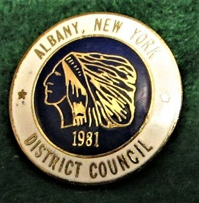 UBC DISTRICT COUNCIL UNITED BROTHERHOOD of CARPENTERS ALBANY NEW YORK 1981 Pin