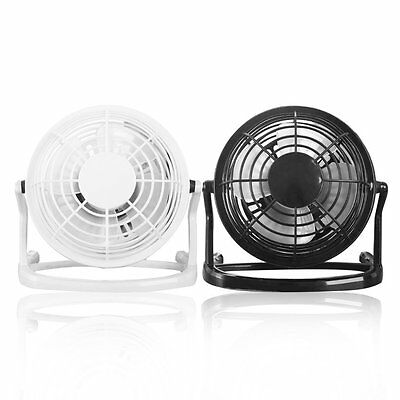 Mini 4 inch USB Fans Portable Small Desk Fan For PC/Laptop/Notebook Metal XRAU