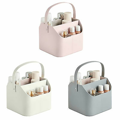 Beautify Cosmetic Caddy Carry Handle Faux Leather Tidy Makeup Storage Organiser