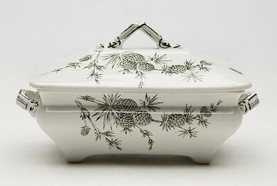 Aesthetic Movement Ridgways Pine Cone Cenis Sauce Boat 1871