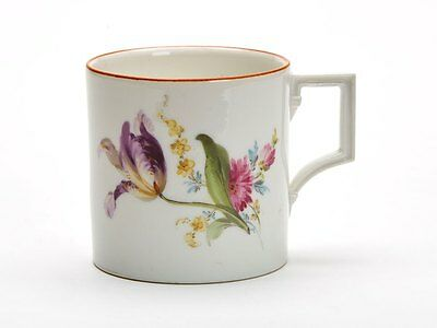 Fine Antique Meissen Floral Painted Coffee Can 19Th C.
