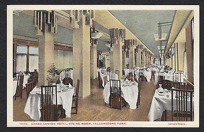 Yellowstone National Park-Grand Canyon Hotel-Dining Room-Haynes-Postcard