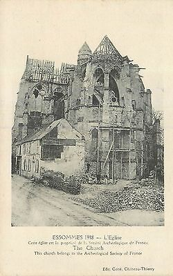 Cp Essommes 1918 Eglise