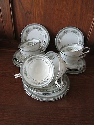 Vintage Noritake~Bristol~ 18 piece Part Tea Set. 6XTrios Floral pattern.