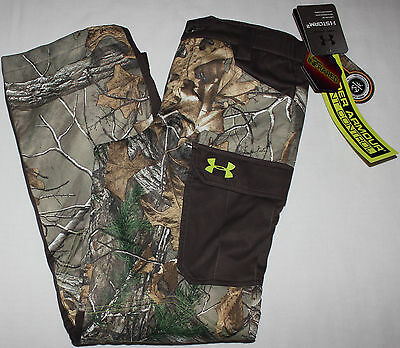 NEW Under Armour Hunting Pants Boys size Large L LG Storm 2 Realtree Camo 109.00