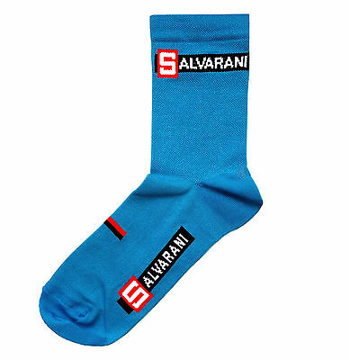 SALVARANI RETRO CYCLING TEAM SOCKS - Vintage Fixed Gear -Made in Italy -