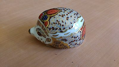 Royal Crown Derby  Paperweight Hedgehog Bramble  (Gold Stopper) VGC