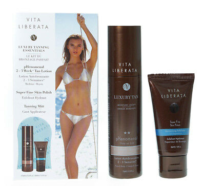 Vita Liberata Phenomenal Self Tan Kit 75ml Lotion Polish & Mitt