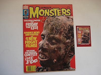 FAMOUS MONSTERS FRIDAY THE 13th  ENGLISH MAGAZINE # 163- 1980 WITH CARD