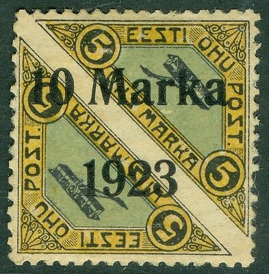 EDW1949SELL : ESTONIA 1923 Scott #C7 Very Fine, Mint part OG as usual. Cat $550