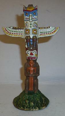 Elastolin Vintage Composition Wild West Indian Camp Totem Pole