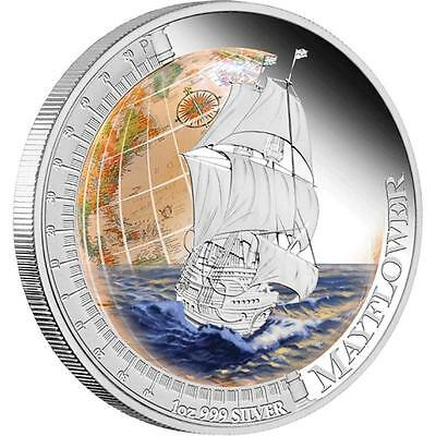 Tuvalu 2011 $1 Ships that Changed the World - Mayflower 1 Oz Proof Silver Coin