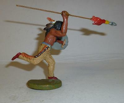 Elastolin Vintage Composition Wild West Indian Running With A Spear