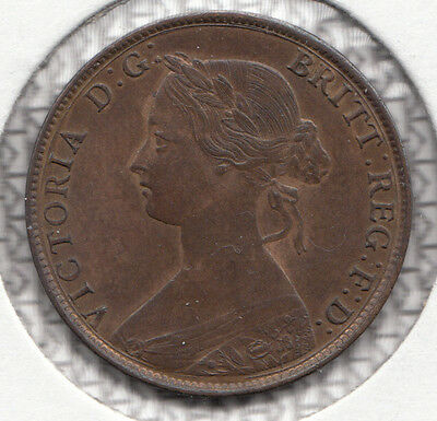 1861 Victoria Halfpenny Spink S3956 Freeman F276 Dies 6+E Very Rare With Errors
