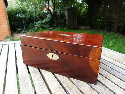 Lovely Antique Mahogany Jewellery Box In Need Of Tlc.