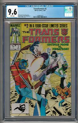 Transformers #2 (1984) CGC 9.6  White Pages  Mantlo - Springer - Golden