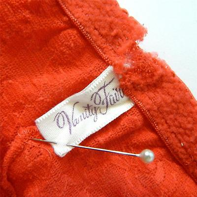 Unique vtg Vanity Fair coral nylon lace high waist hipster granny sissy panties