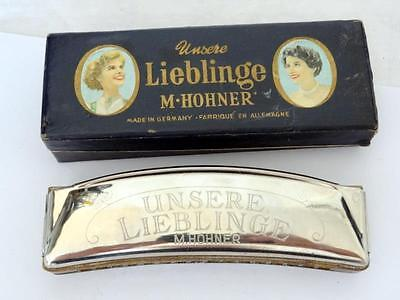 Vintage M. HOHNER HARMONICA UNSERE LIEBLINGE 32 HOLE in C German Made w/ BOX