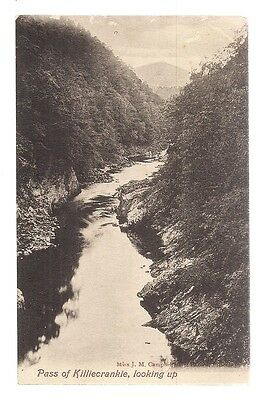 pass of  killiecrankie, scotland unused postcard vgc