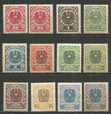 Austria 1920/21 mint stamps MH(*) original gum  set +