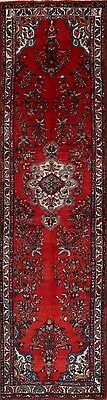 """Palace Sized Floral Red Runner 3x13 Hamadan Persian Oriental Rug 13' 3"""" x 3' 4"""""""