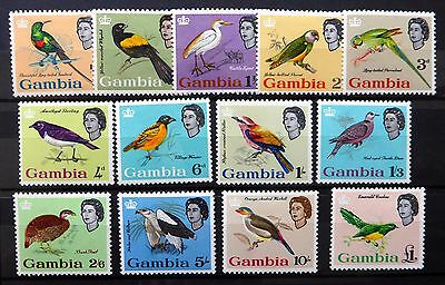 GAMBIA 1963 Birds (13) SG193-205 Mounted Mint NB1438