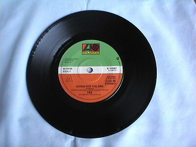 """Yes """"going For The One"""" 1977 7"""" Vinyl Single In A Plain Sleeve"""