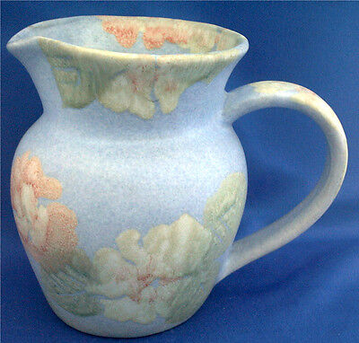 Wales. Conwy Pottery Jug. Floral Decoration. 5 Inch Tall. Retains Original Label