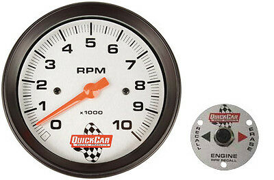 """Quickcar 611-6002 3-3/8"""" Tach with Remote Recall IMCA Dirt Racing Circle Track"""