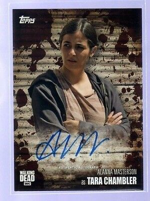 2017 Topps Walking Dead Season 6 .. Alanna Masterson as Tara Auto Autograph