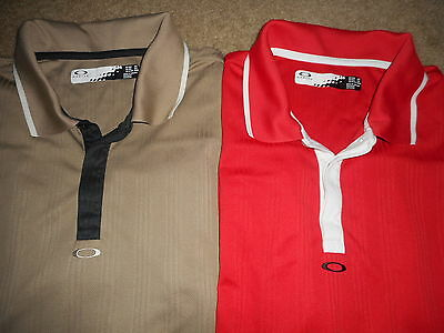 Lot Of 2 Oakley Mens Short Sleeve Golf Polo Shirts Size Xxl