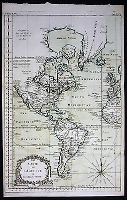 1764 - America continent South North Florida California Virginia Bellin map
