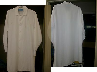 """Lab Coats Size Large Men's White Long Length 40"""" $6.00 Each Used But Still Nice"""