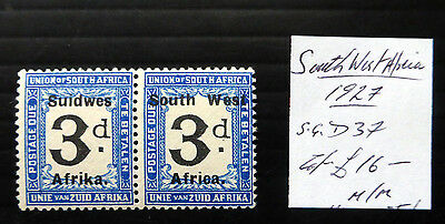 SOUTH WEST AFRICA 1927 As Described Mounted Mint NB1452