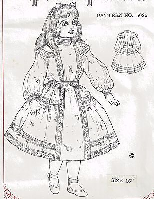 "16""antique French Jumeau-German Child Doll Dress/epaulet Blouse&skirt Pattern"