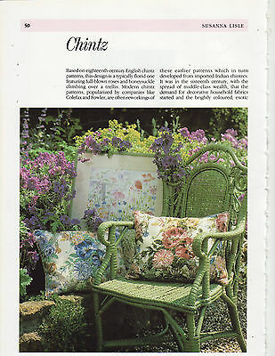 Chintz Susan Lisle Pink and Blue Colourways Tapestry Needlepoint Chart in Colour