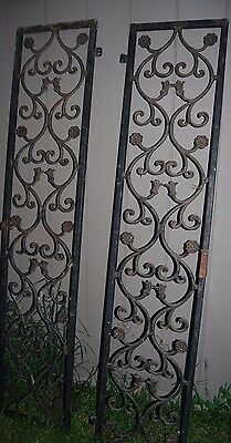 Pair Of Antique Wrought Iron Gates Doors Architectural Elements