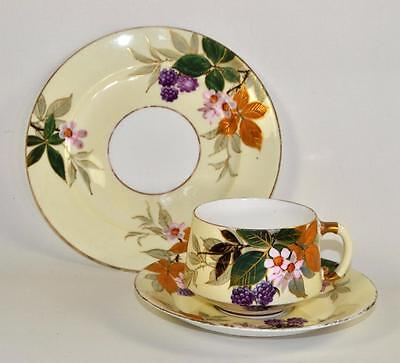 ANTIQUE English Trio Cup Saucer Plate Aesthetic Style c1890 EJD Bodley (b