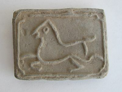 Fine Old Chinese Clay Figural Wind Horse Decorated Paste Wax Seal Name SIGNED