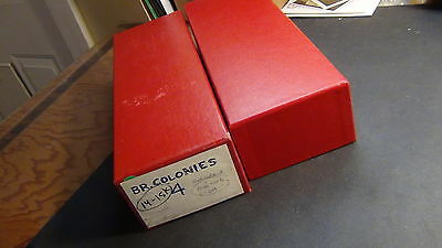 Hong Kong stamp assortment in 2 red  boxes loaded with thousands 102 cards