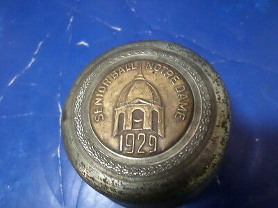 RARE 1929 senior ball notre dame music box works great plays Notre dame song