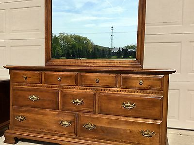 Ethan Allen Classic Manor Dresser with Mirror