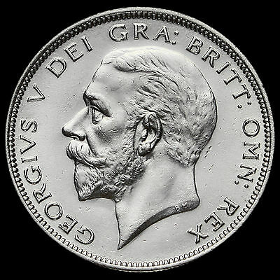 1932 George V Silver Half Crown, Scarce, A/UNC