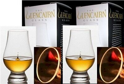 2 Official Glencairn Scotch Whisky Glasses With Two Watch Glass Covers