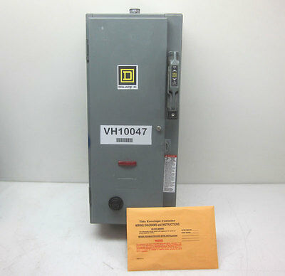 Square D 30-Amp Fusible Disconnect Starter Switch Safety Combo 3-Ph Contactor
