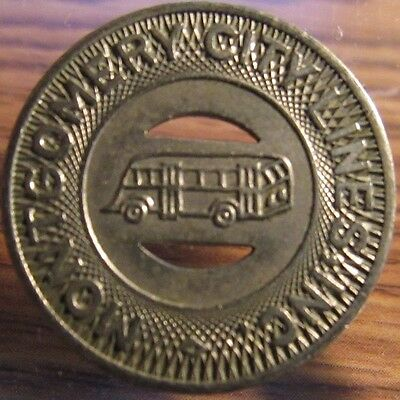 Very Old Montgomery, AL City Lines Transit Bus Token - Alabama Ala.